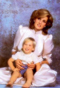 Princess Diana and Prince William  #britishroyalty