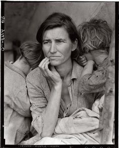 'Migrant Mother' 1936 Dorothea Lange. One of the most amazing photographs. Ever.