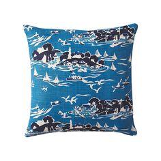 Skylake Toile Pillow Cover – Atlantic Blue | Serena & Lily