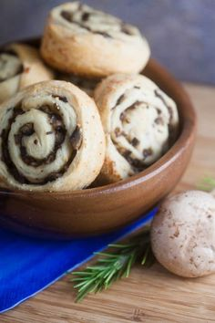 These easy to make mushroom pinwheels are delicious as a side dish with soup or as a snack or appetizer.