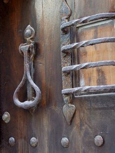 Middle Ages door in Concarneau, Bretagne, France