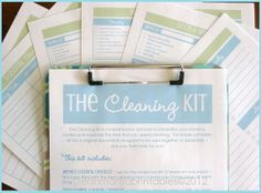 Great for spring cleaning this month! Clean Mama's cleaning kit!