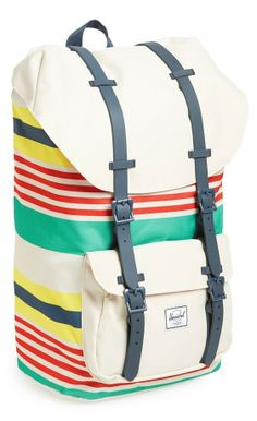 Herschel's signature backback in fun summer stripes.