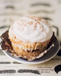 Cinnamon roll cupcakes.  YUM