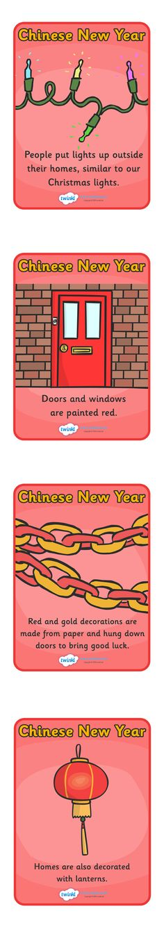 Chinese New Year Celebration Customs Display Posters  - Pop over to our site at www.twinkl.co.uk and check out our lovely Chinese New Year primary teaching resources! chinese new year, customs, traditions, chinese new year traditions #twinkl #resources