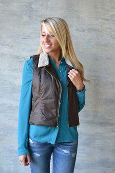 Piace Boutique - Magee Vest (Jack by BB Dakota), $69.00 (http://www.piaceboutique.com/magee-vest-jack-by-bb-dakota/)