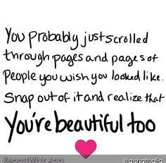 You're  beautiful too