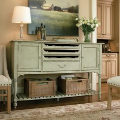 River Rock Farmhouse Sideboard. Love the color!