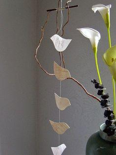 pretty papercut birds