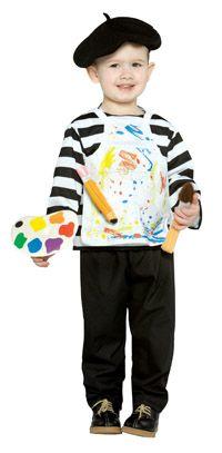 Toddler artist costume - DIY #Carnevale #bambini