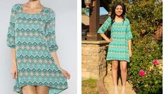 $28.99 Colorful Green or Blue Tunic Dress | Sassy Steals