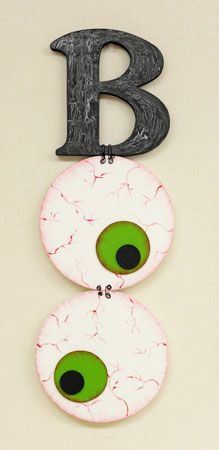 BOO Wall Art, but would be cute as a small polyclay pin with an eye cane.#Pintowingifts