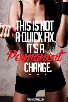 True fitness is a #lifestyle change, not just a quick fix. To succeed, you have to commit. #YouCanDoIt