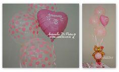 Bouquet de globos con lechuzas, globos personalizados, custom, ballon, owl, pink, babyshower, baby shower, birthday, party,