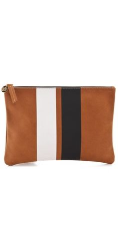 Love this stripe clutch from Clare Vivier.