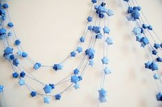 paper star garlands