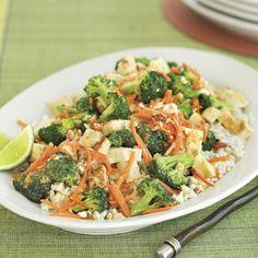 33 One-Dish Dinners - Peanut-Broccoli Stir-fry Recipe  - Southern Living