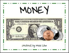 Money book to intro/teach coins and dollar. This is so amazing! The rhymes will are catchy; great visual aids