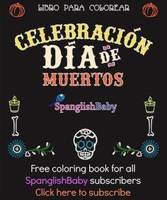 FREE! Day of the Dead 10-page coloring book! GRATIS! Día de Muertos libro para colorear!