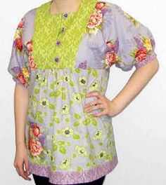 Design and Sew Your Own Peasant Blouse - I hate the fabric choices they used, but love the pattern
