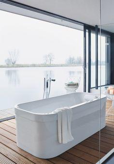 #vrijstaand #bad bij Van Wanrooij keuken- en badkamerspecialisten #duravit