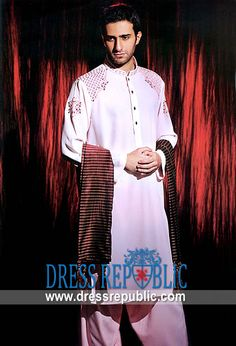 Style DRM1293 - DRM1293, Amir Adnan Mens Shalwar Kameez 2013 Collection, Ramadan EID 2013 Designs by www.dressrepublic.com