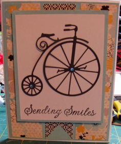 Memory Box Vintage Bicycle and Hero Arts sentiment