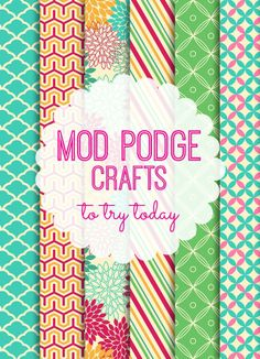 20 Mod Podge Crafts to try today! LOVE THESE!