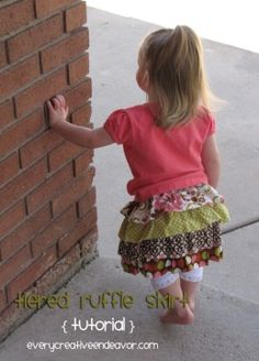 Tiered Ruffle Skirt Tutorial -