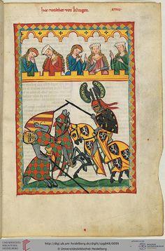 Codex Manesse, Herr Walther von Klingen, Fol 052r, c. 1304-1340
