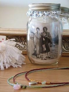 photo mason jar display