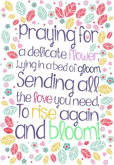 Free #Printable 'Rise Again And Bloom' Get well Greeting #Card