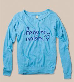 Hakuna Matata - blue on blue