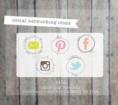 Social Media icons Social networking icons - blog buttons - social media set