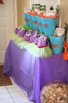 Under the sea / little mermaid birthday party ideas -- party favors