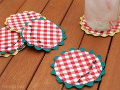 FlamingoToes: Summer Picnic Coasters