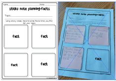 Use sticky notes to note facts from your reading.