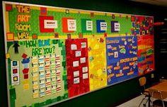 Great bulletin board idea-love color blocking