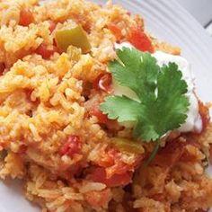 Spanish Rice II Allrecipes.com Hand, Rice Recip, Delici, Fun Recip, Super Easi, Easi Recip, Ingredi, Side Dish, Spanish Rice