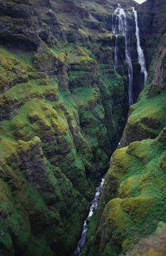greens, valleys, waterfalls