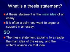 teaching writing thesis statements