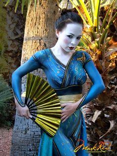 Kimono body paint