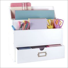 #papercraft #craftroom #crafting supply #organization - this is the Go-Organize Desktop Organizer. Get Organized w/ #organizing #furnishings from Go-Organize.com!