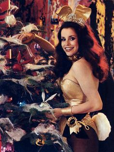 And one bunny by the Christmas tree. Cover photo; VIP The Playboy Club Magazine; Winter 1972.