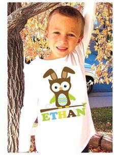 easter boy, shirts, easter shirt, girl unisex, owl, boy shirt, unisex tee, person boy, boy girl