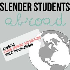 Advice for eating, drinking, and working out while studying abroad! Pretty good tips, actually. student travel tips, workabroad, slender student, colleg