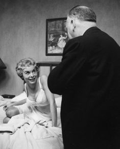 Actress Janet Leigh and Director Alfred Hitchcock