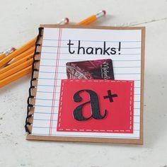 DIY Teacher Gift Card Holder