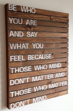 Cute wall hanging and great quote!