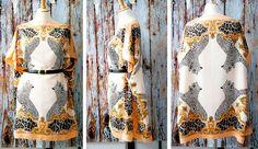 DIY silk kaftan dress